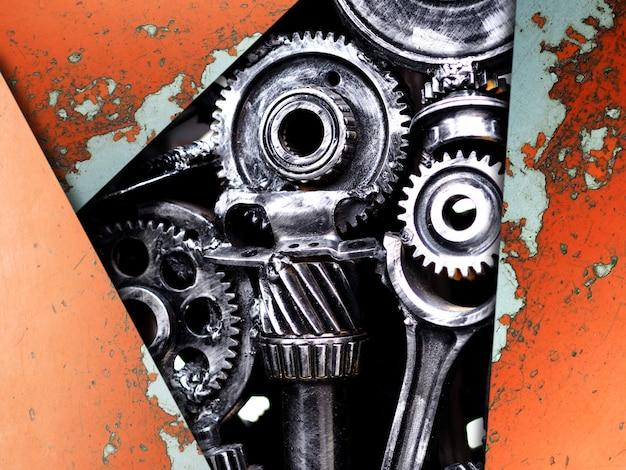 Een fragment van de machineonderdelenmotor