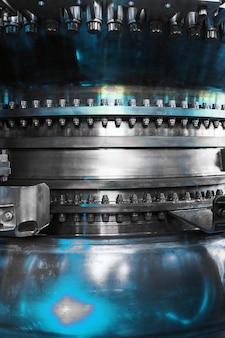 Een gedetailleerd beeld van de gasturbinemotor voor het opwekken van elektriciteit
