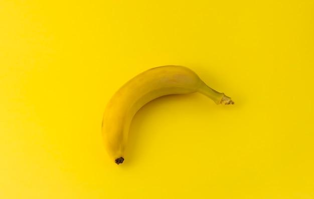 Een gele banaan