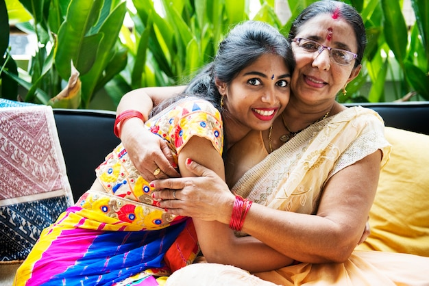 Een gelukkig indisch gezin