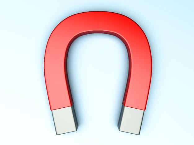 Een generieke magneet. 3d teruggegeven illustratie.