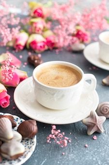 Een geurige ochtendkoffie.