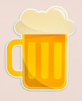 Een glas bier pictogram geïsoleerd
