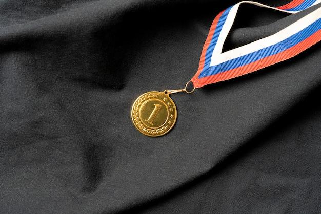 Een gouden medaille voor de beloning van de eerste plaats, succes bij het wedstrijdconcept