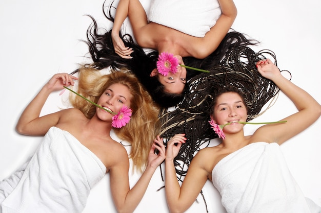 Een groep fith bloem van de mooie vrouw