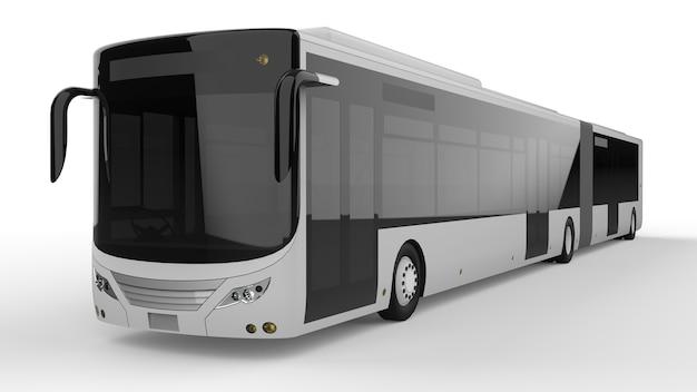 Een grote stadsbus 3d-rendering.