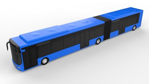 Een grote stadsbus met een extra langwerpig deel voor grote passagierscapaciteit in de spits