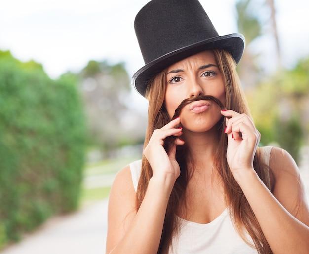 Een hoed close-up expressie sir
