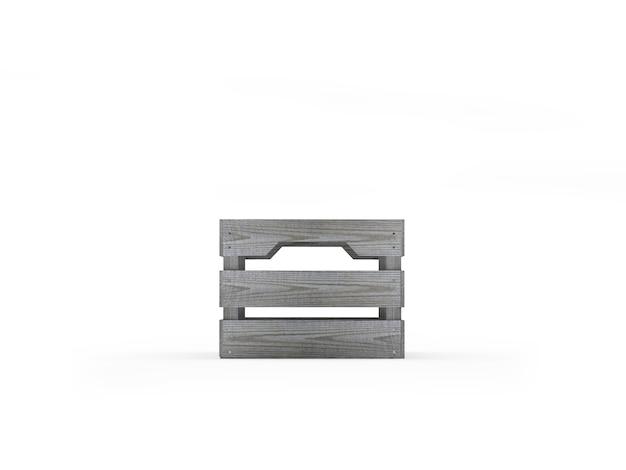 Een houten kist Premium Foto