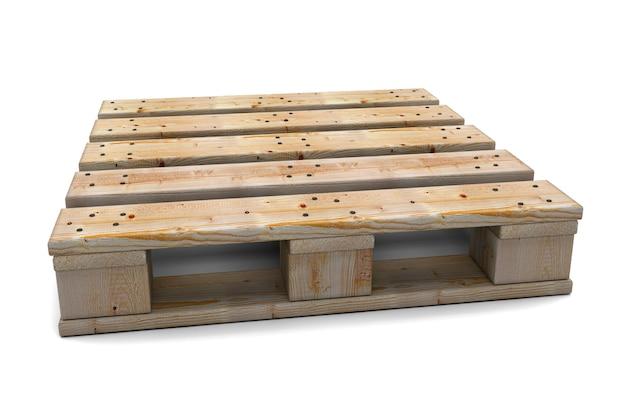 Een houten palle geïsoleerd in 3d render afbeelding