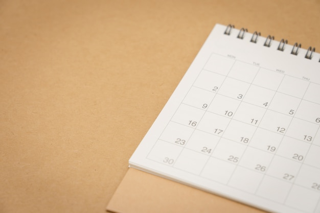 Een kalender van de maand. gebruiken als achtergrond bedrijfsconcept en planning concept
