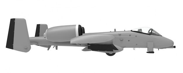 Een klein militair vliegtuig