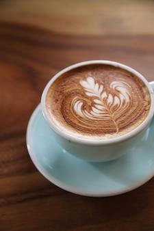 Een kopje cappuccino koffie
