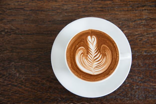 Een kopje koffie, cappuccino-kunst, latte-kunst, latte, cappuccino
