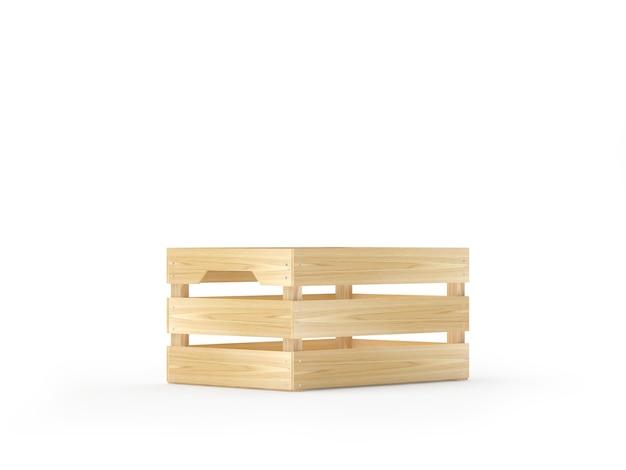 Een lege houten kist