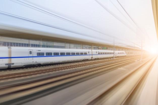 Een lopende trein