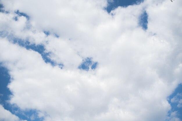 Een lucht met veel wolken.