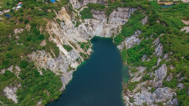 Een luchtmening van grand canyon chonburi thailand