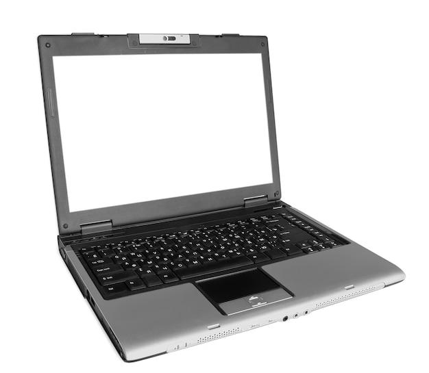 Een moderne laptop op het wit