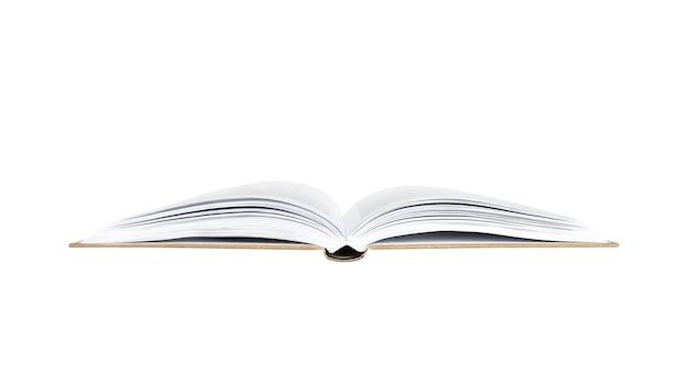 Een open boek geïsoleerd.
