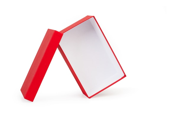 Een open rode doos