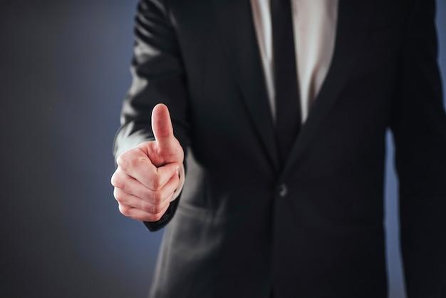 Een passerende biometrische vingerafdruk