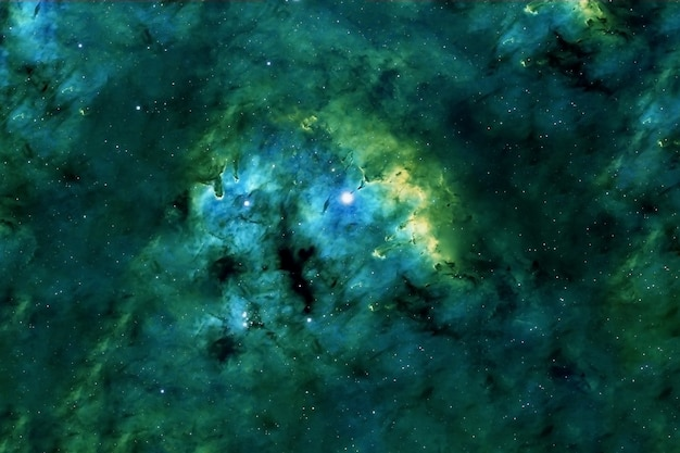 Een prachtig gekleurd sterrenstelsel. elementen van deze afbeelding zijn geleverd door nasa. hoge kwaliteit foto