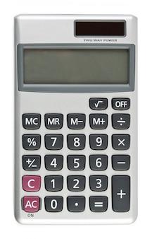 Een rekenmachine op de witte achtergronden