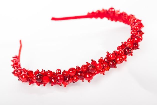 Een rode sieraden hoofdbanden voor vrouwelijk haar