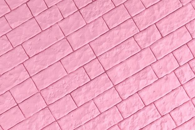 Een roze bakstenen muur. 3d illustratie