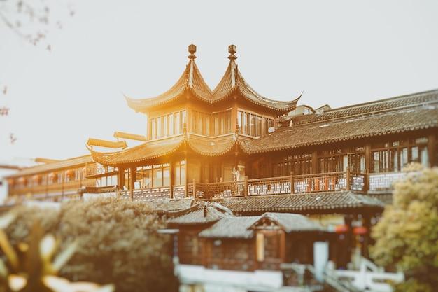 Een scène buiten fuzimiao temple