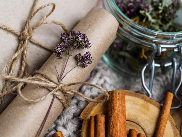 Een set nuttige ingrediënten voor thuisbehandeling