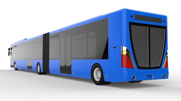 Een sjabloon voor een groot stadsbusmodel voor het plaatsen van uw afbeeldingen en inscripties