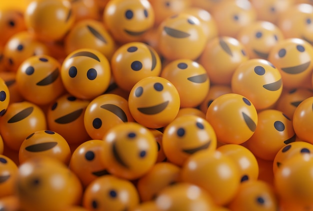 Een stelletje smiley-emoticons.