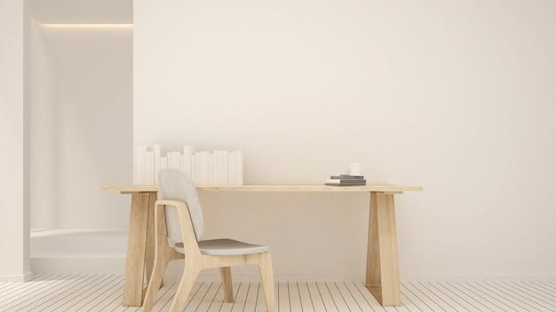 Een strak ontwerp op de werkplek in een flatgebouw of een klein kantoor