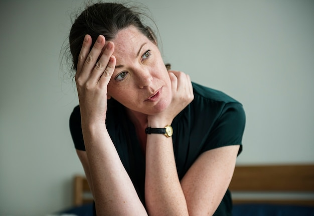 Een stressvolle vrouw
