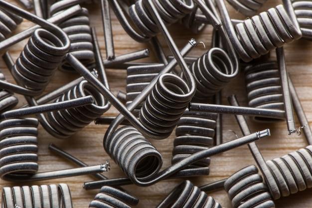 Een textuur van een spiraal voor een elektronische verdamper en een sigaret, vape, vapen