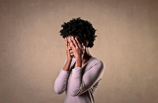 Een trieste vrouw