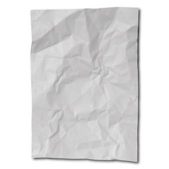 Een vel verfrommeld papier apart als mockup.