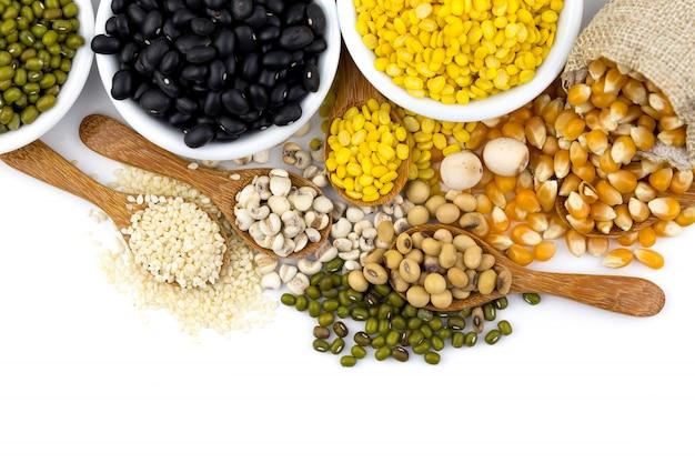 Een verscheidenheid aan graangewassen voor de gezondheid.