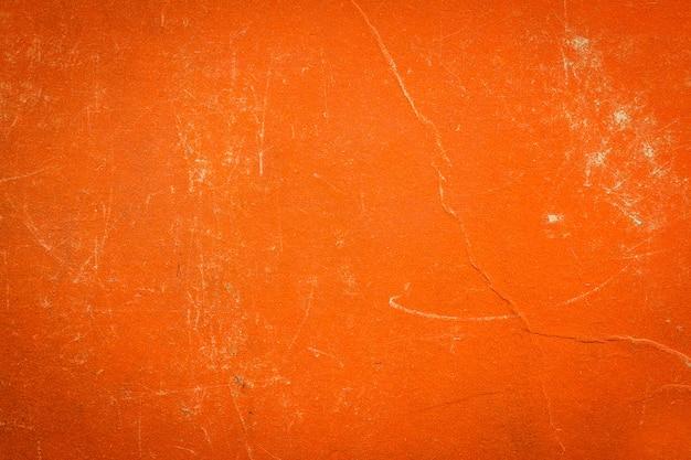 Een vintage stoffen boekomslag met oranje schermpatroon