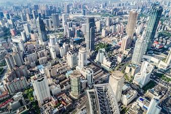 Een vogelvlucht van Shanghai
