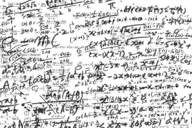 Een whiteboard vol wiskundige formules.