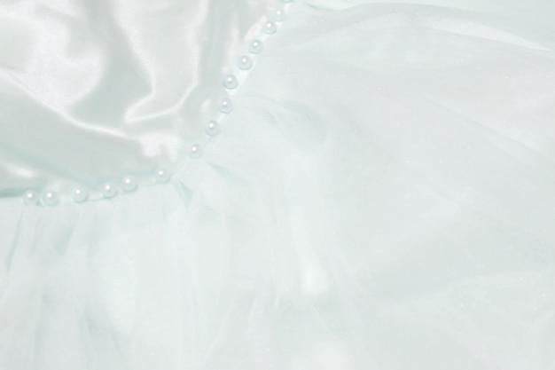 Een zoete pastel chiffon textuur achtergrond. huwelijk