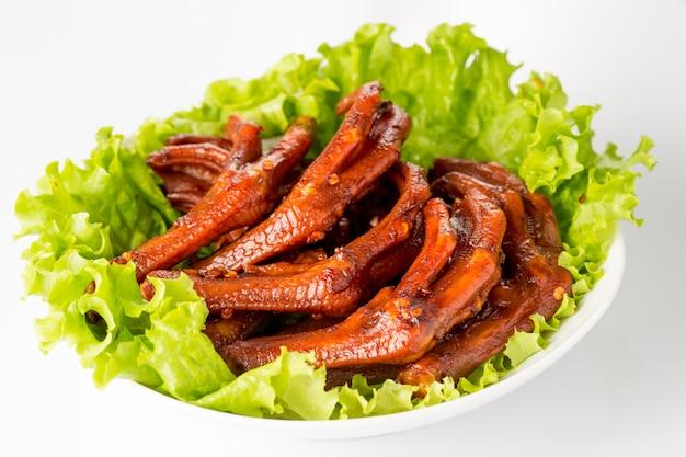 Eend benen met salade