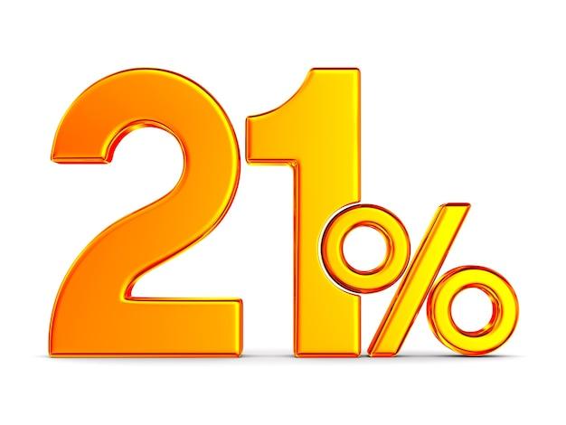 Eenentwintig procent op wit
