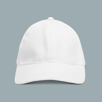 Eenvoudig accessoire voor hoofddeksels met witte dop