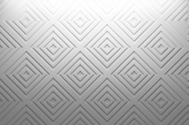 Eenvoudig delicaat geometrisch wit patroon met vierkanten