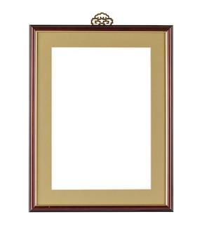 Eenvoudig frame met donkere randen onder de lichten geïsoleerd op een witte achtergrond