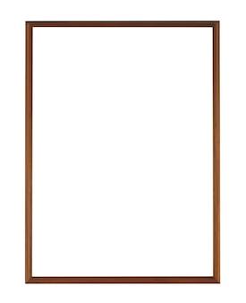 Eenvoudig houten frame dat op een wit oppervlak wordt geïsoleerd